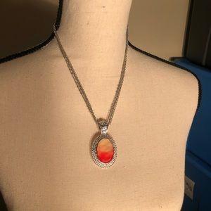 Jewelry - Orange Ombré Oval Necklace
